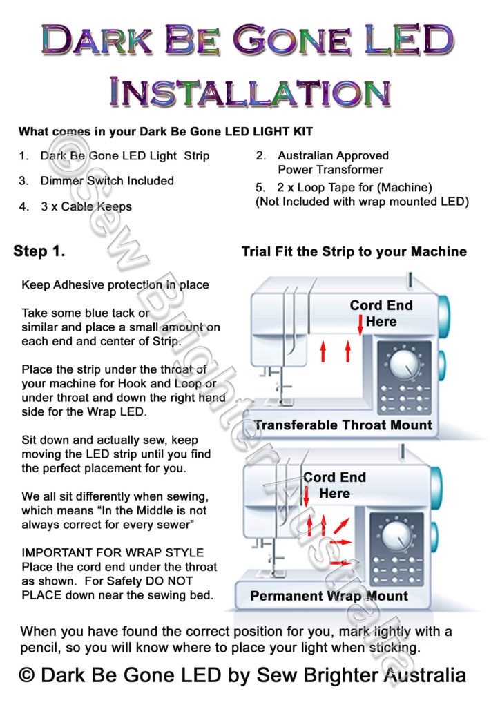 Installation Instructions Page 1